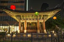 Tempel in zentralem Seoul Südkorea Lizenzfreie Stockfotos