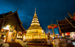 Tempel in zonsondergang Royalty-vrije Stock Afbeeldingen