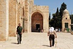 Tempelberg- und Al-Aqsamoschee in Jerusalem Israel lizenzfreies stockbild