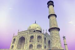 Tempelbild Taj Mahal i Agra, Indien som tas i November 2009 Arkivfoton