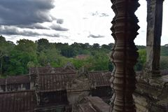 Tempelboden von Kambodscha Stockfoto