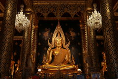 TempelBuddhastaty Thailand Arkivbild