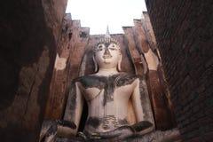 TempelBuddhastaty Thailand Fotografering för Bildbyråer