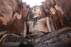 TempelBuddhastaty Thailand Arkivbilder