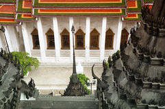 Tempeldaken in Bangkok Royalty-vrije Stock Foto's