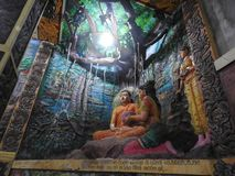 Tempeldecoratie en het grote monument van Boedha, toeristenbestemming, Sri Lanka royalty-vrije stock fotografie