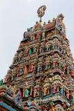 Tempeldetail Sri Mahamariamman stockbild