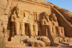 Tempelet av Abu Simbel i Egypten Royaltyfria Foton