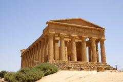 Tempel av Concordia Agrigento Arkivbilder
