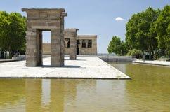 Tempelet av Debod, Madrid Arkivfoto
