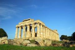 Tempelet av Hera, på Selinunte Arkivbilder