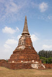 Tempelet fördärvar, Ayutthaya Arkivbilder