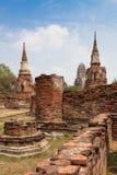 Tempelet fördärvar, Ayutthaya Royaltyfria Foton