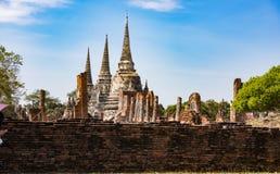 Tempelet fördärvar, Ayutthaya Royaltyfria Bilder