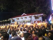 Tempelfestival stockfoto