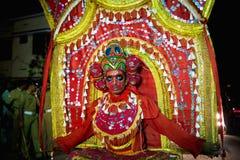 Tempelfestival i Kerala Arkivbild