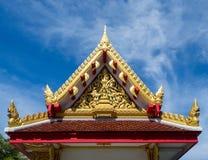 Tempelgiebel, schönes Design Stockfotos