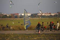 Tempelhofer Feld Βερολίνο Στοκ Φωτογραφίες