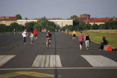 Tempelhofer Feld Berlin Photographie stock