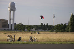 Tempelhofer Feld Berlin Stock Photo