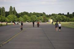 Tempelhofer Feld Berlin. CIRCA JUNE 2014 - BERLIN: impressions from the Tempelhofer Feld, the former airport of Berlin-Tempelhof which has been redesigned as a Stock Images