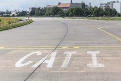 Tempelhofer feld old airport berlin germany. The tempelhofer feld old airport berlin germany Stock Image