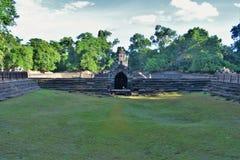Tempeljordning av Cambodja Arkivfoto