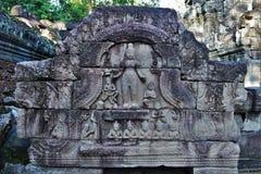Tempeljordning av Cambodja Arkivbilder