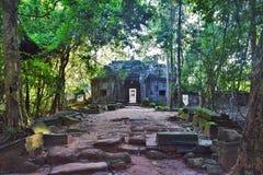 Tempeljordning av Cambodja Royaltyfria Foton