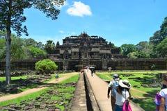 Tempeljordning av Cambodja Arkivbild