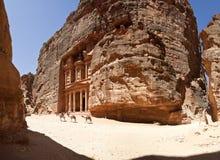 Tempelkassan av Petra Royaltyfria Foton