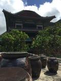 TempelKimchee för mu-Ryang Sa krukor Fotografering för Bildbyråer
