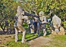 Tempelklocka i fristad av sanning i Pattaya Royaltyfri Fotografi