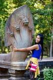 Tempelkomplex Beng Mealea. Cambodja Arkivfoton