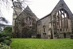 Tempelkyrka i Bristol england Arkivfoto