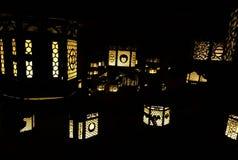 Tempellampor arkivfoton
