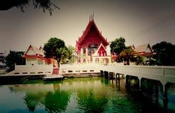 Tempellandskap i vatten Royaltyfri Fotografi