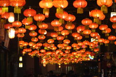 Tempelmesse 2014 Chinesischen Neujahrsfests und Laternenfestival Stockfoto