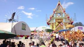 Tempelmesse von Suphanburi-Provinz, Thailand im Jahre 2015 Lizenzfreies Stockfoto