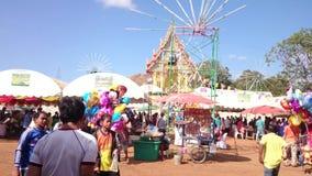 Tempelmesse von Suphanburi-Provinz, Thailand im Jahre 2015 stock video footage