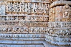 Tempelmuur Royalty-vrije Stock Afbeeldingen