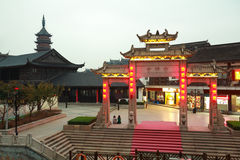 Tempelnacht Wuxis Nanchan Lizenzfreie Stockfotografie