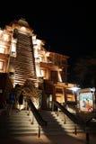 Tempelpavillon Epcot Mexiko nachts Stockbild