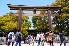 Tempelport i Japan, Tokyo Arkivfoto