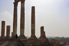 Tempelruïnes, Amman Royalty-vrije Stock Fotografie