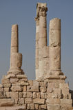 Tempelruïnes, Amman Royalty-vrije Stock Afbeeldingen