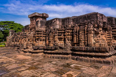 Tempelruinen Konark Sun Lizenzfreies Stockbild