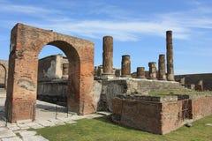 Tempelruinen von Pompeji Stockfotografie
