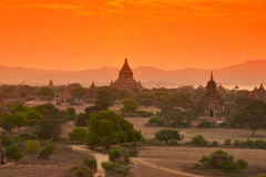 Tempels in Bagan Stock Foto