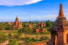 Tempels in Bagan, Myanmar Royalty-vrije Stock Foto's